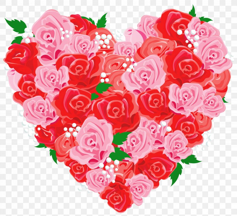 Heart Rose Love Valentine's Day Clip Art, PNG, 6477x5885px.
