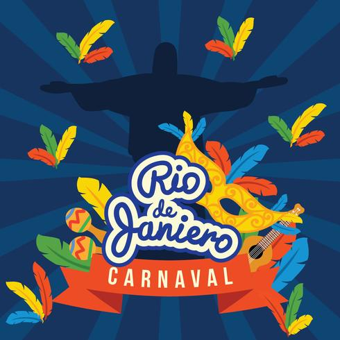 Rio Dejaniero Carnaval Poster.