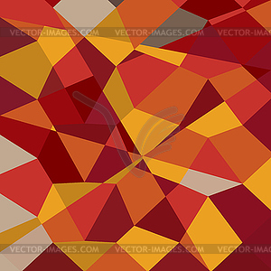 Carnelian Red Abstract Low Polygon Background.
