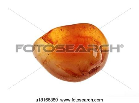 Stock Photography of Cutout of a Carnelian (also spelled cornelian.