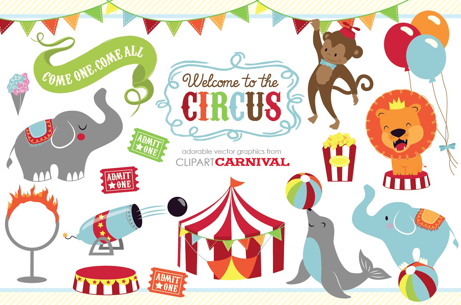 Circus animal clipart 3 » Clipart Station.