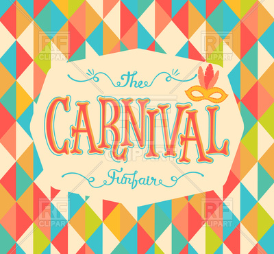 Carnival funfair background with colourful rhombus Vector Image.