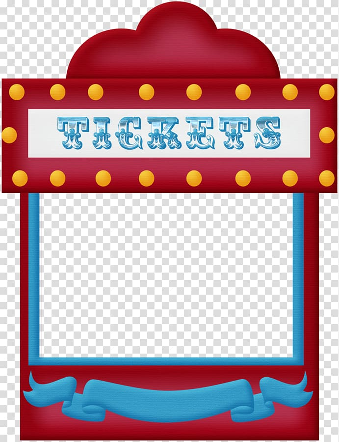 Red and blue ticket booth illustration, Circus Traveling carnival.