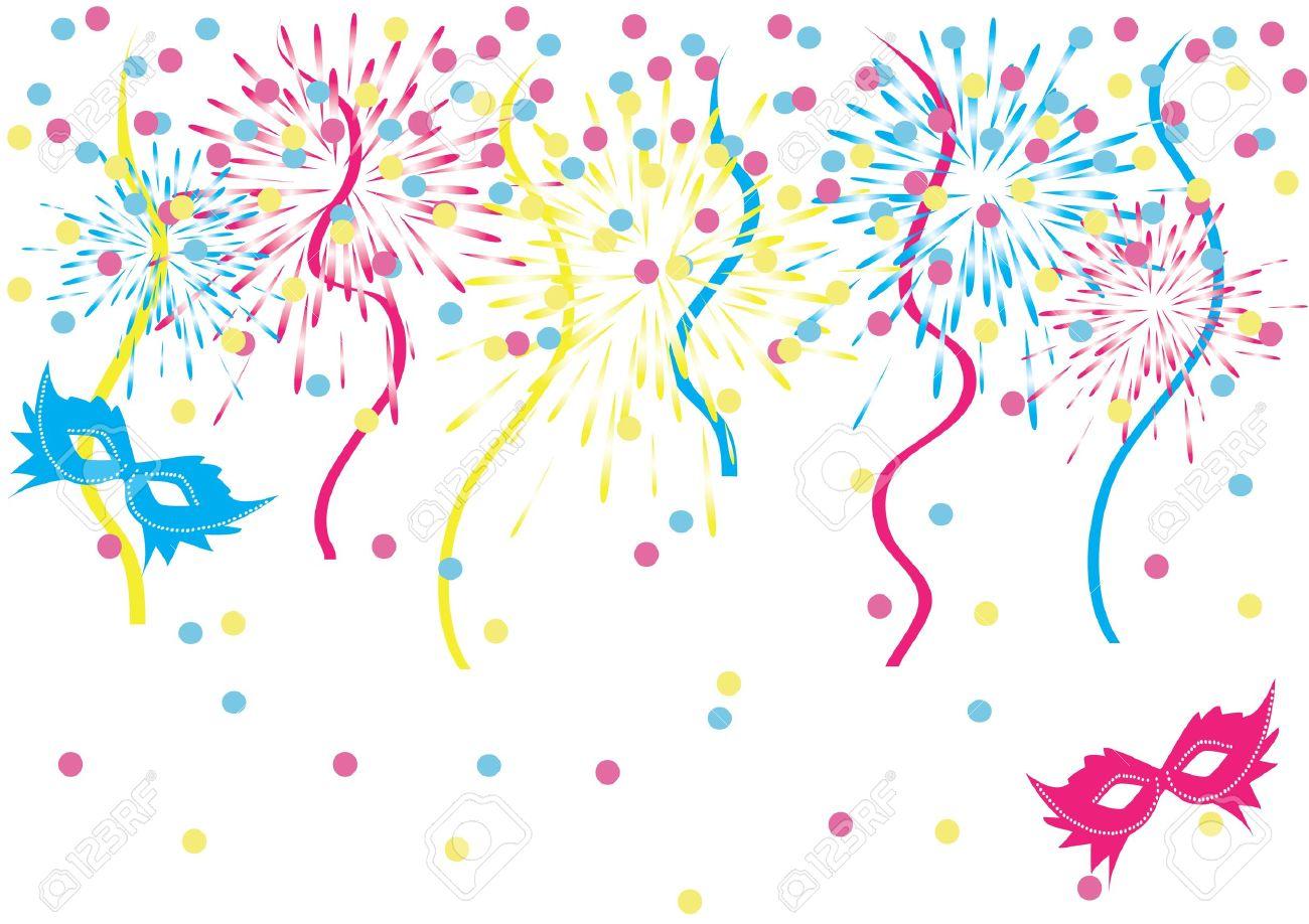 Confetti carnival background.