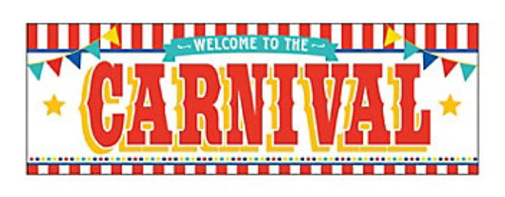 Carnival Banner Party Circus Sticker PNG, Clipart, Advertising, Area.