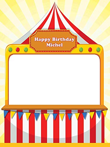 Carnival Party Supplies Photo Props Happy Birthday Circus Photo Booth Prop.