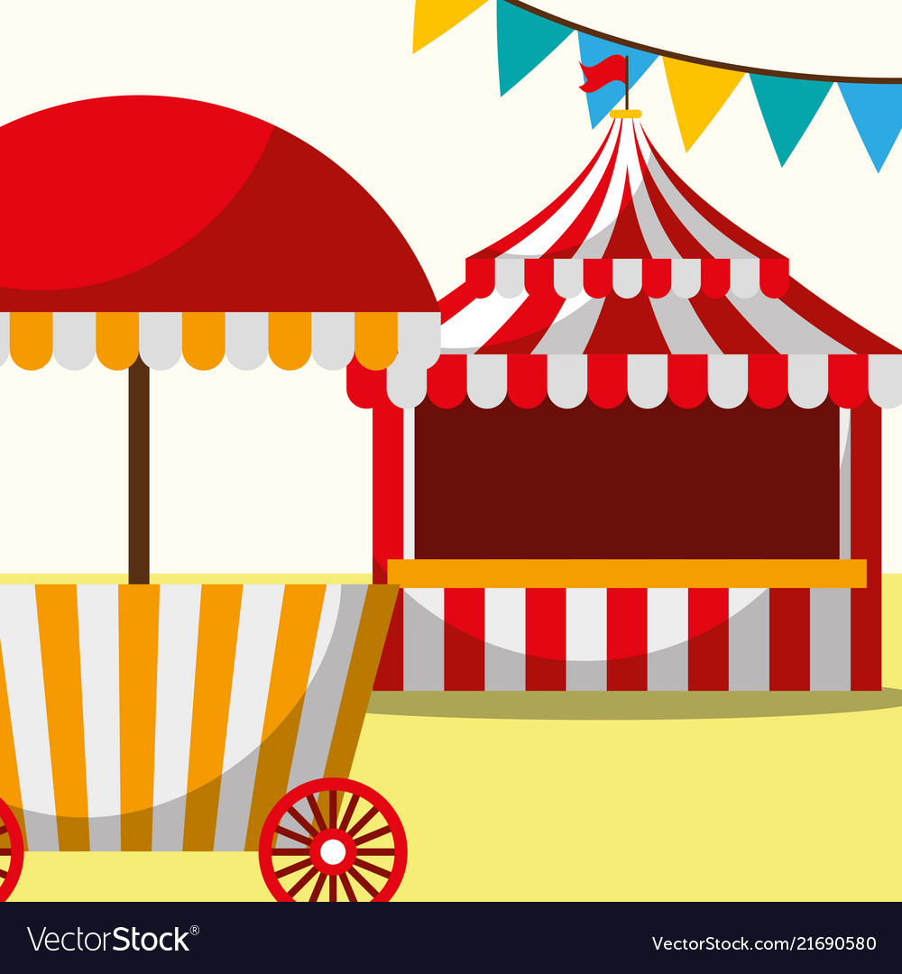 Tent and food booth carnival fun fair festival.