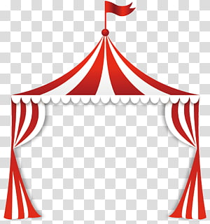 Circus play fun fair border illustration, Euclidean Circus.