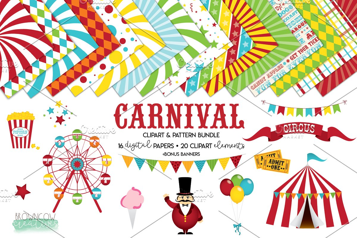 Carnival Clip Art & Backgrounds.