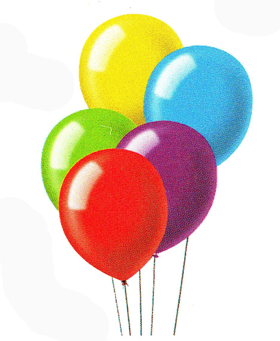 Carnival Balloons Clip Art N3 free image.