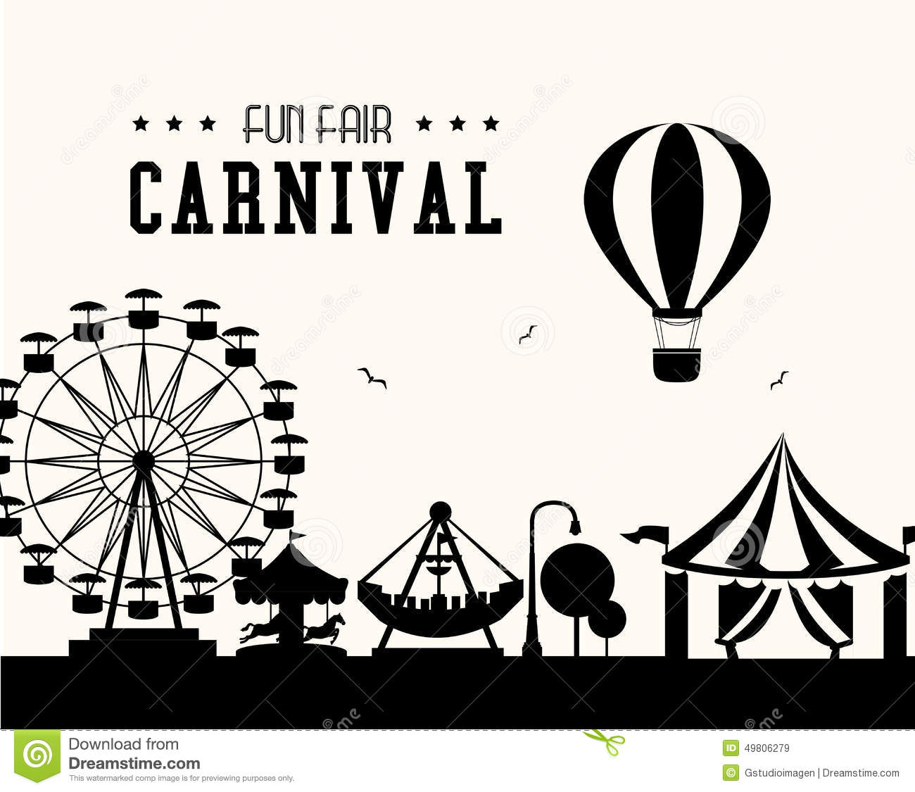 Carnival clipart black and white 3 » Clipart Station.