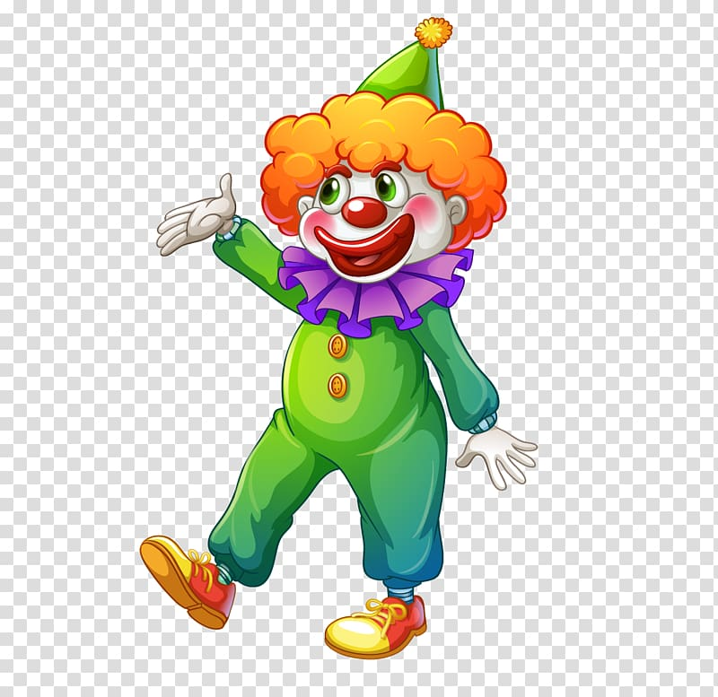 Carnival Clown Circus , Cartoon clown transparent background PNG.