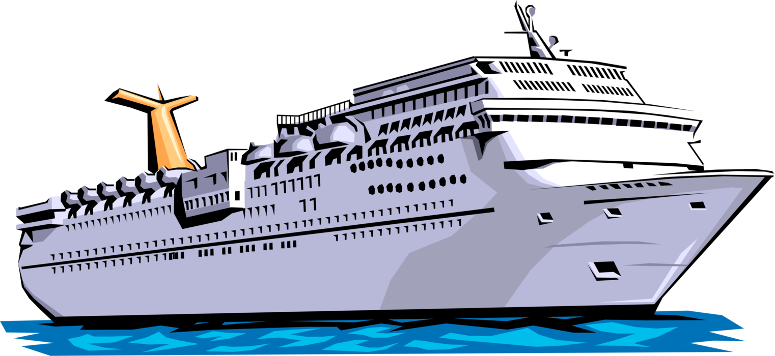 HD Cruise Ship Vector Png.