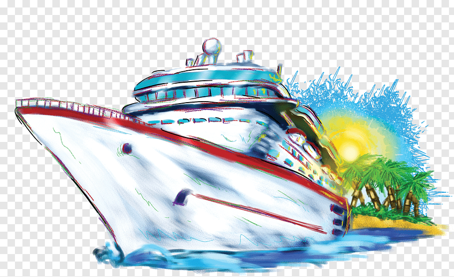 White and red ship, Cruise ship Carnival Cruise Line.