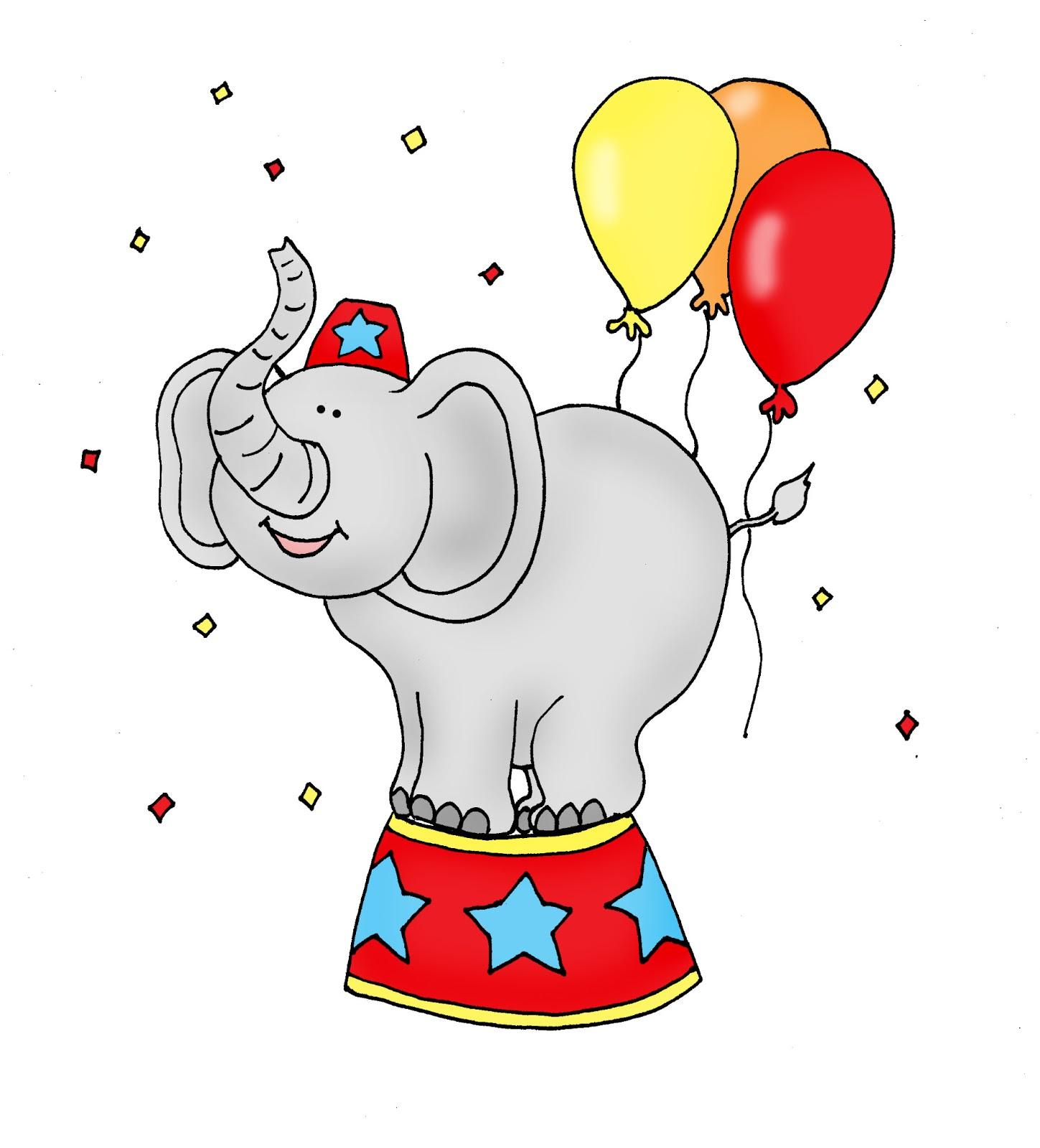 Cartoon Circus Elephant.