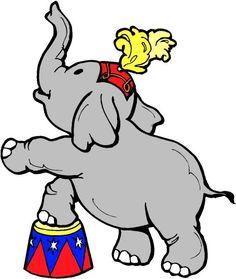 CIRCUS ELEPHANT CLIP ART.