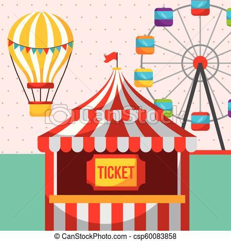 ticket booth ferris wheel carnival fun fair festival.