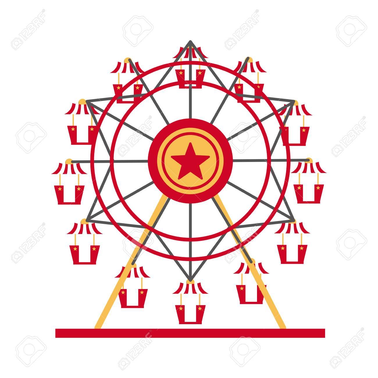Carnival ferris wheel icon vector illustration graphic design.