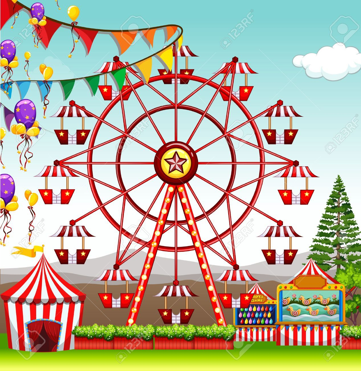 Carnival ferris wheel clipart 4 » Clipart Portal.