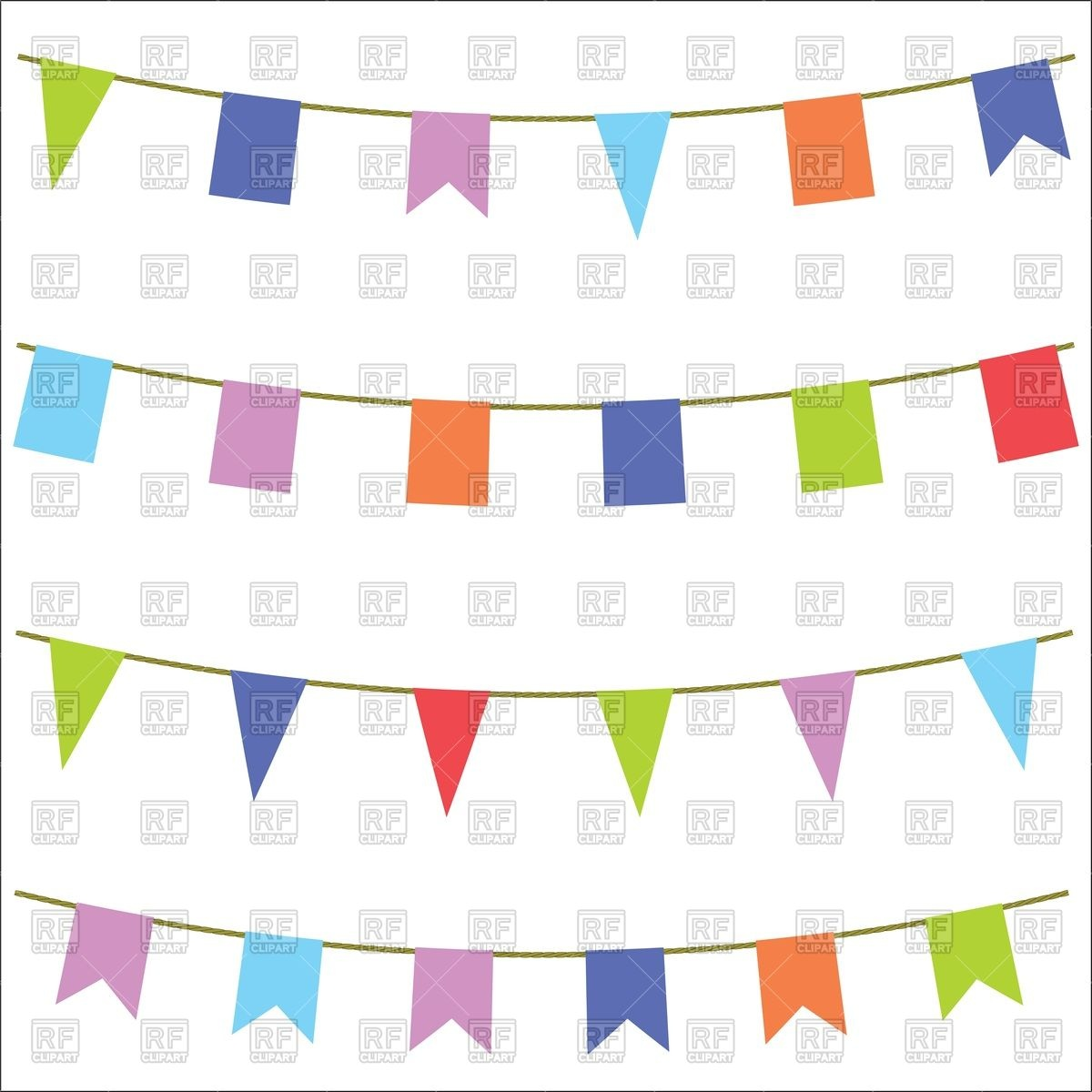 Carnival flags on white background Stock Vector Image.