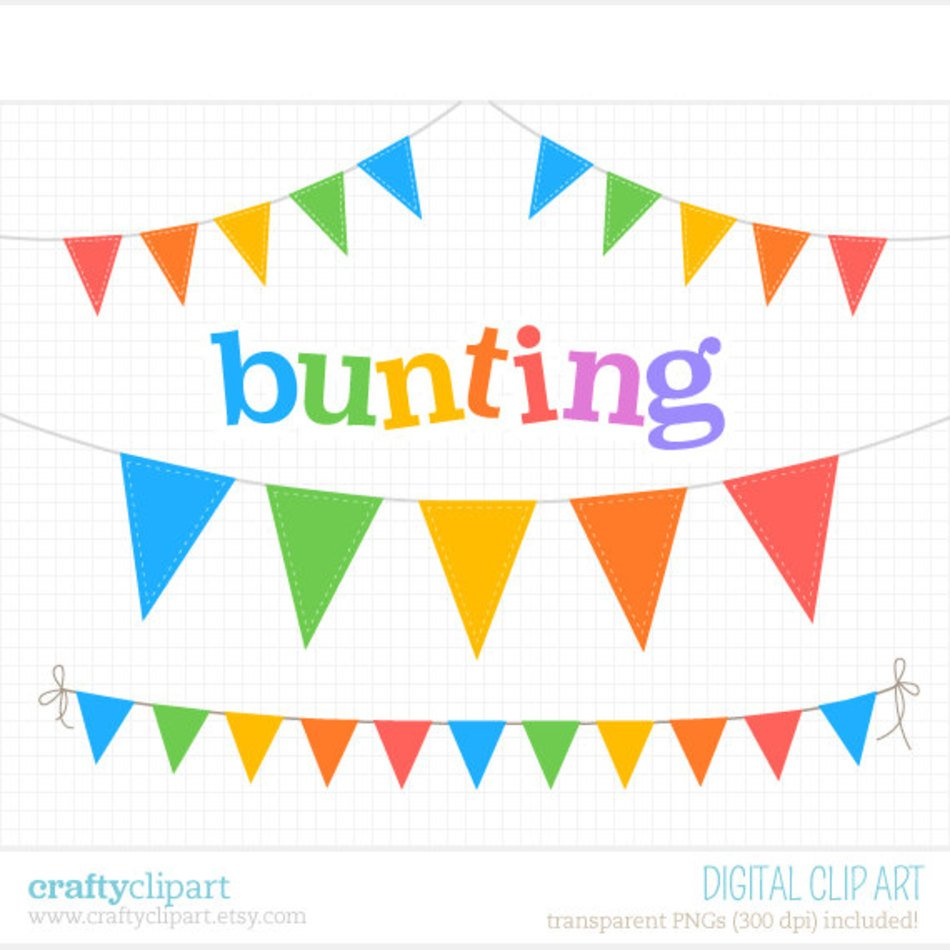 Bunting Carnival Circus Flags Digital Instant clipart free image.
