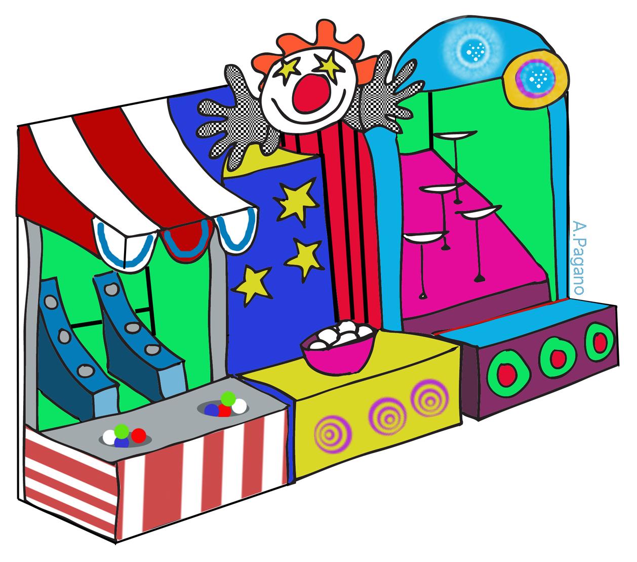 Carnival games clip art.