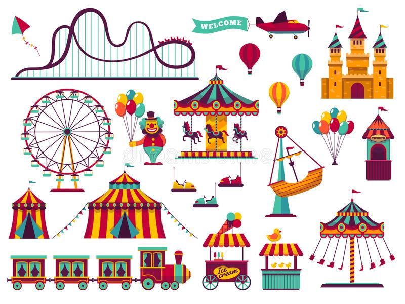 Carnival Games Stock Illustrations.