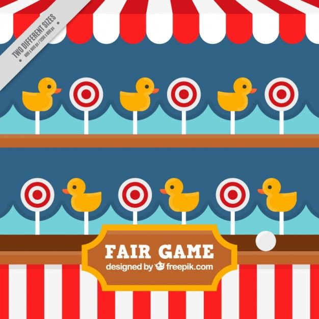 Nice fair game background Free Vector.