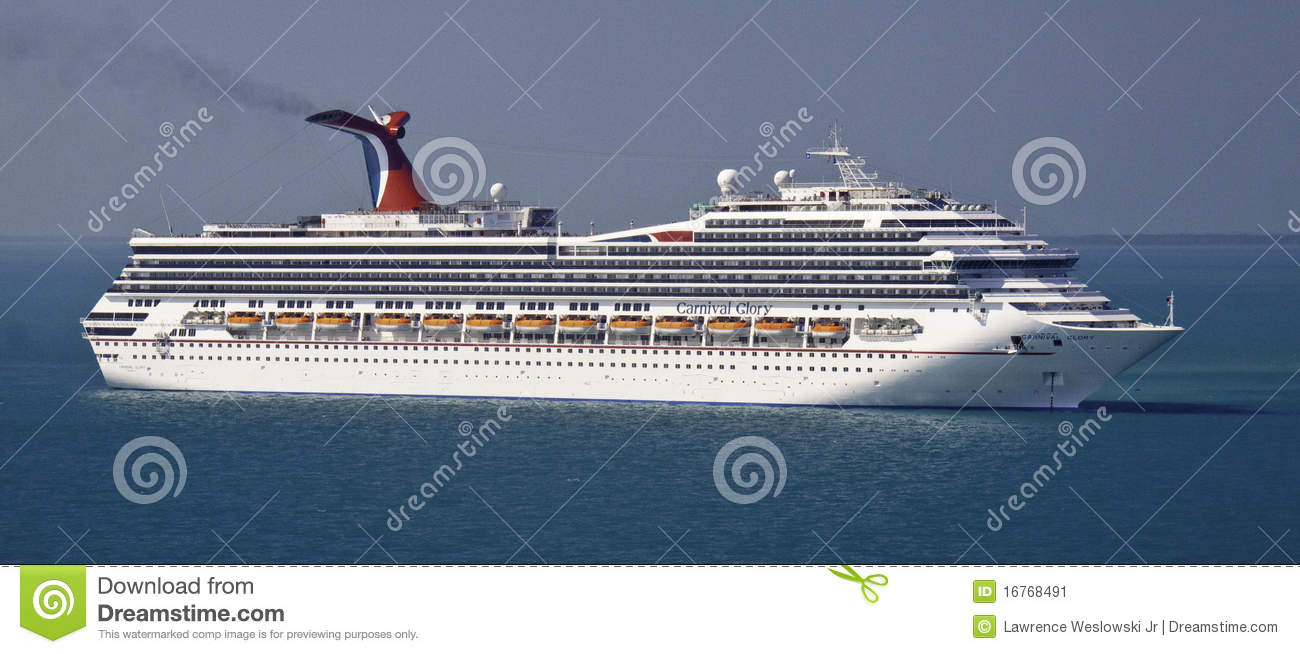 Carnival Glory Cruise Ship In Belize Editorial Photo.