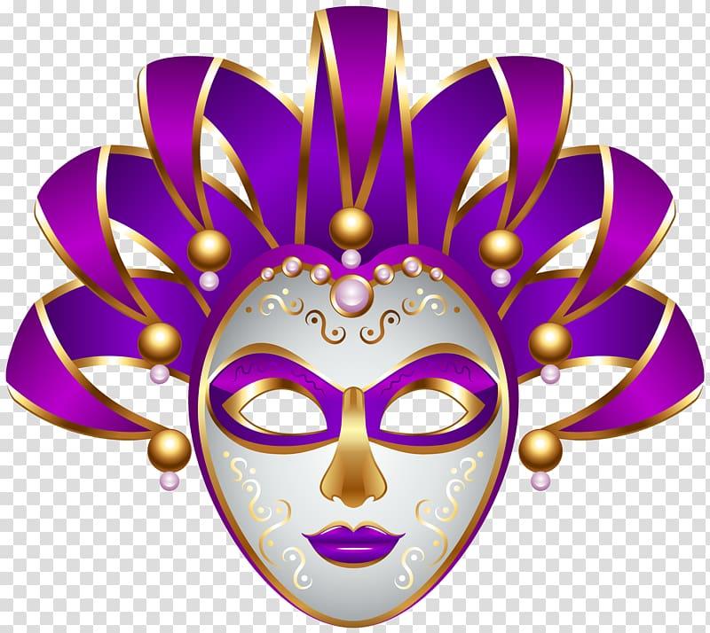 Purple jester mask illustration, Mask Carnival Mardi Gras , Purple.