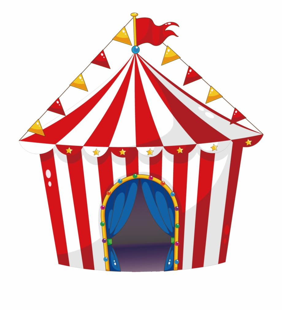 Tent Circus Carnival Illustration.