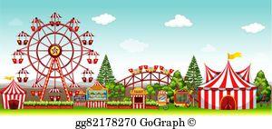 Amusement Park Rides Clip Art.