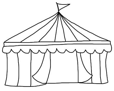 Free Circus Tent Clipart Black And White, Download Free Clip.