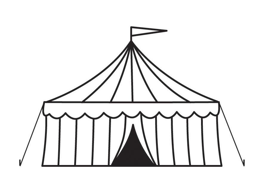 Free Circus Tent Black And White, Download Free Clip Art.