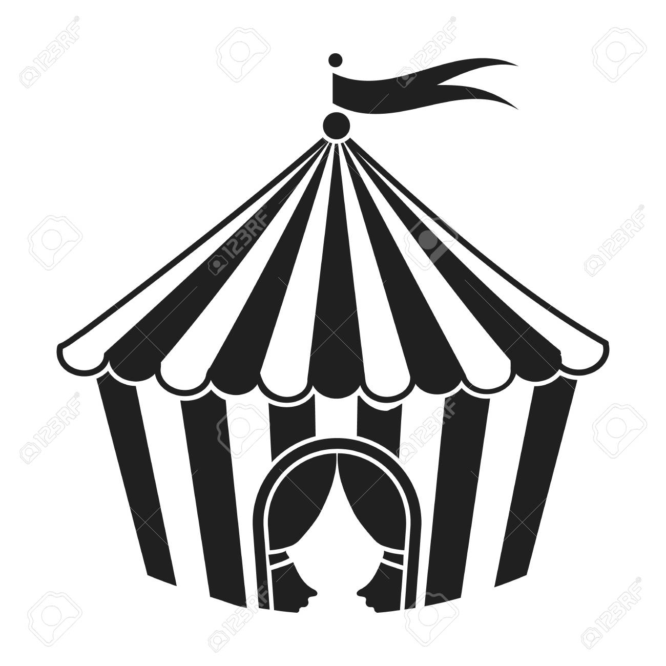393 Circus Tent free clipart.