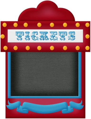 Theme park ticket booth clipart.