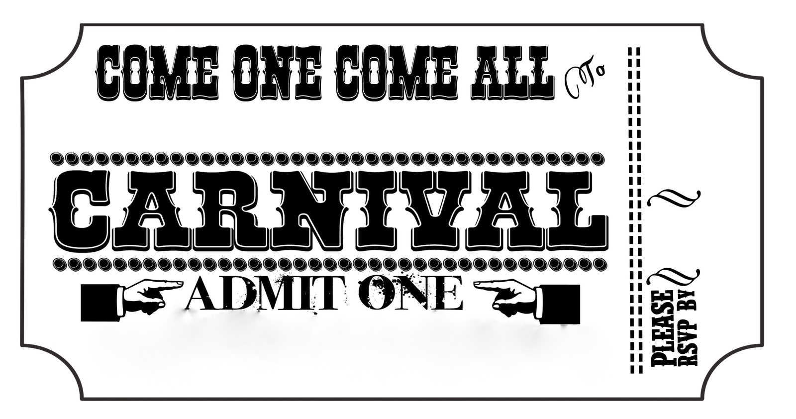 Carnival ticket clipart 7 » Clipart Station.