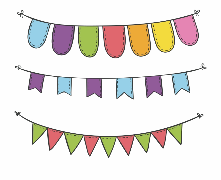 Svg Royalty Free Download Carnival Vector Flags Decoration.