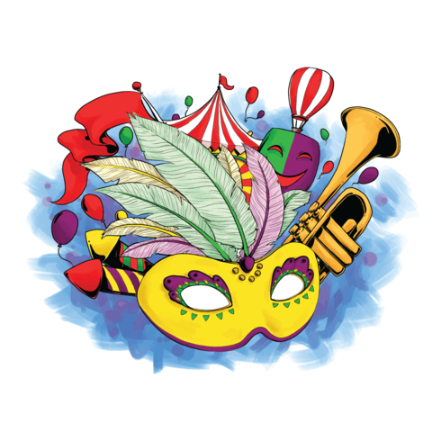 Rio Carnival Vector Illustration.