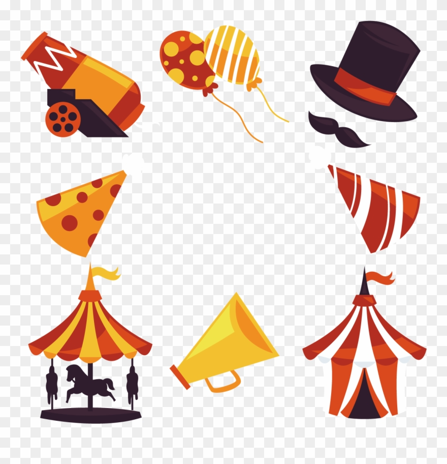 Picture Black And White Download Carnival Vector Elements.