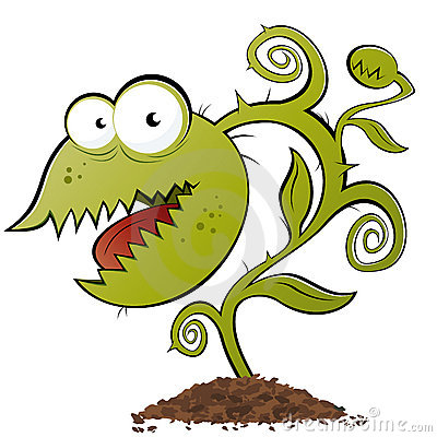 Carnivorous Plant Vector Stock Vector.