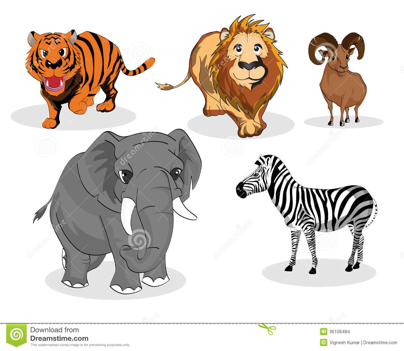 Carnivores Stock Illustrations.