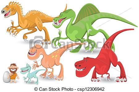 EPS Vector of Carnivorous Dinosaurs Collection Se.