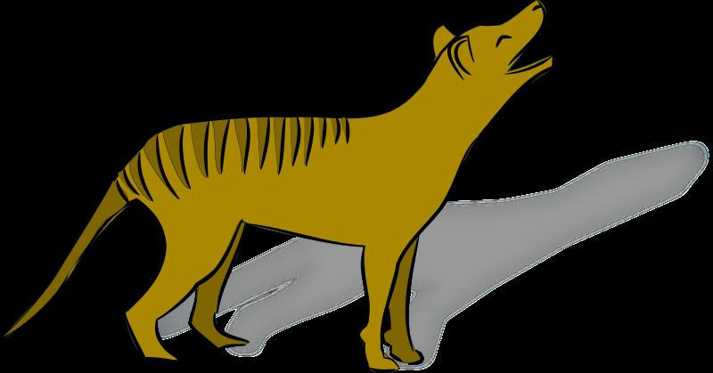 Free Thylacine Clip Art.