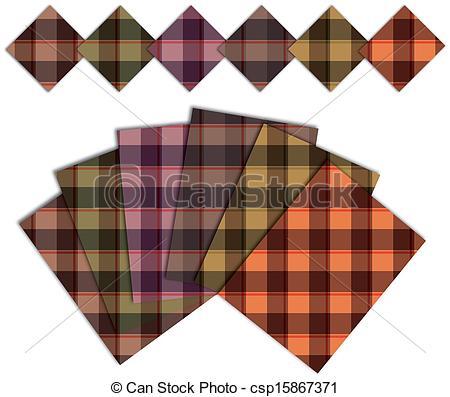 Vectors Illustration of caro warm pattern csp15867371.