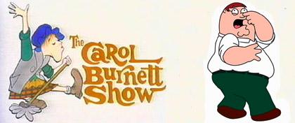 Carol Burnett Vs. Family Guy.