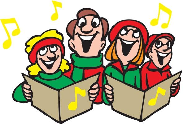 Free christmas clip art carol singers.