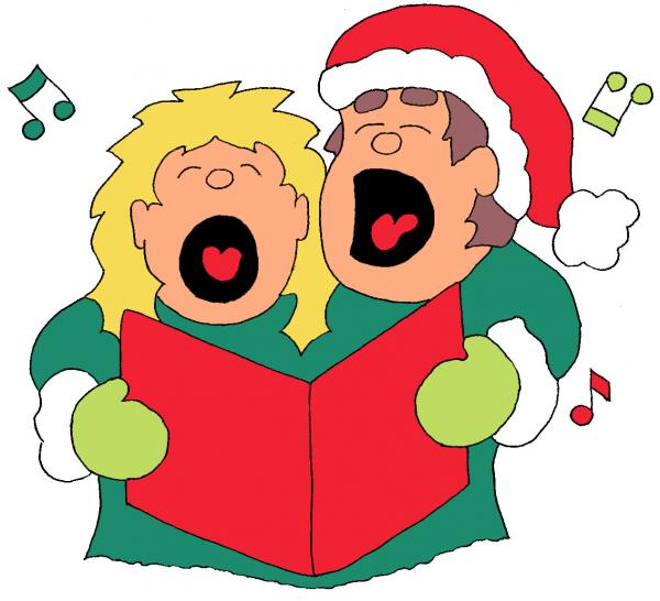 Clipart christmas carol singers.