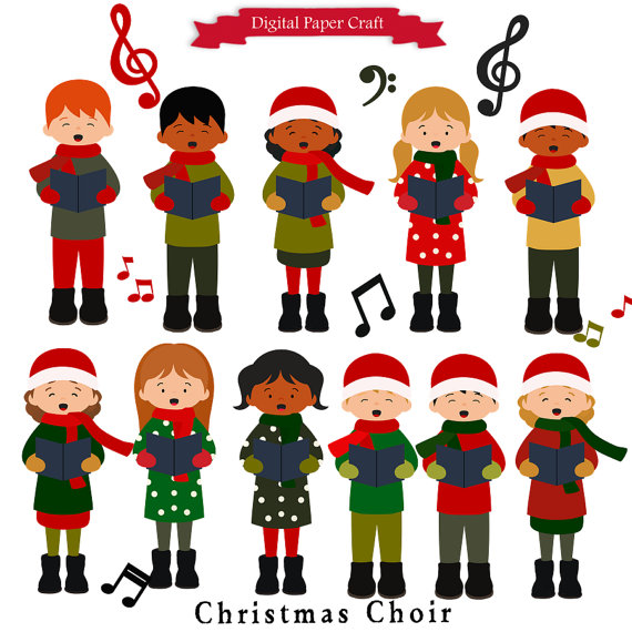 Christmas Singers Clipart.
