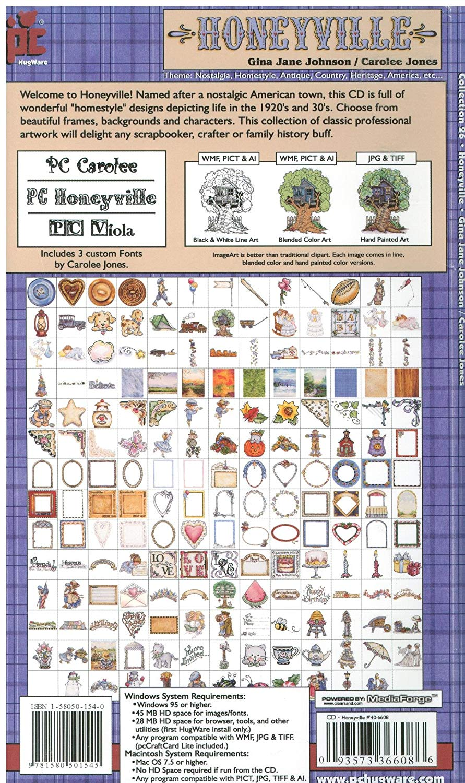 Gina Jane Johnson & Carolee Jones Honeyville Clip Art Crafting Software  (Cd.